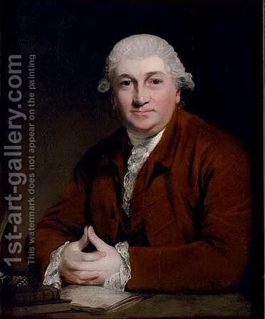Portrait of David Garrick (1717-1779) by (after) Sir Joshua Reynolds - Reproduction Oil Painting