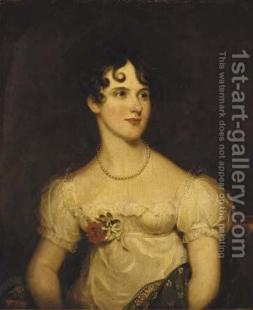 Portrait of Anne Wigram (1794-1844), nee Arkwright by (after) Sir Martin Archer Shee - Reproduction Oil Painting