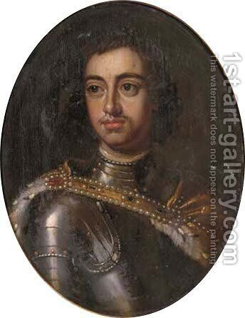 Portrait of Peter the Great by (after) Sir Peter Lely - Reproduction Oil Painting