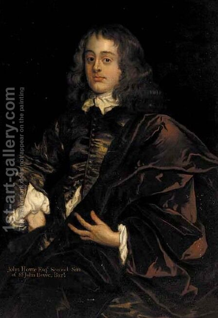 Portrait of John Howe Esq. by (after) Sir Peter Lely - Reproduction Oil Painting