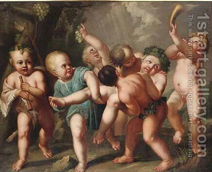 An infant bacchanal by (after) Sir Peter Paul Rubens - Reproduction Oil Painting