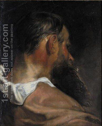 Study Of The Head Of A Man by (after) Sir Peter Paul Rubens - Reproduction Oil Painting