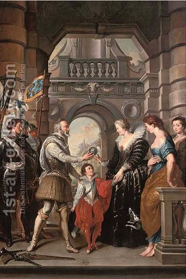 The Conferral of the Regency by (after) Sir Peter Paul Rubens - Reproduction Oil Painting