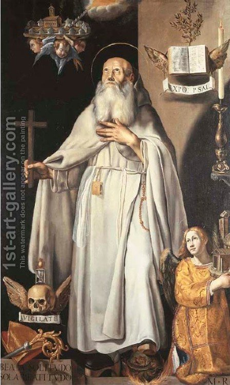 Saint Benedict by (after) Tanzio Da Varallo, Il Tanzio - Reproduction Oil Painting