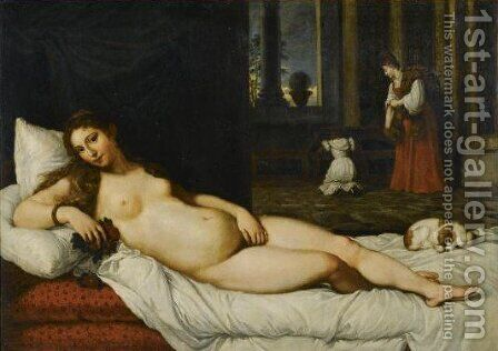 The Venus Of Urbino 2 by (after) Tiziano Vecellio (Titian) - Reproduction Oil Painting