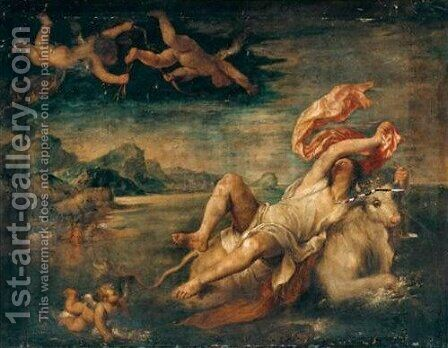 The Rape Of Europa by (after) Tiziano Vecellio (Titian) - Reproduction Oil Painting