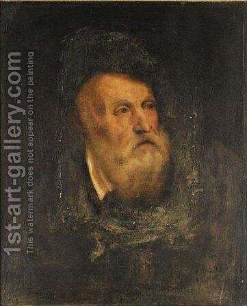 Portrait Of The Artist by (after) Tiziano Vecellio (Titian) - Reproduction Oil Painting