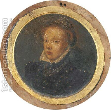 Portrait of a lady 2 by (after)Frans, The Younger Pourbus - Reproduction Oil Painting
