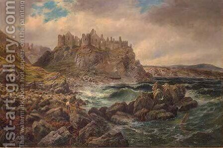 Dunluce Castle, County Antrim, Ireland by Albert Dunnington - Reproduction Oil Painting