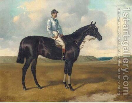 Ormonde, a bay racehorse, with Fred Archer up, on Newmarket Heath by Alfred Jun Wheeler - Reproduction Oil Painting