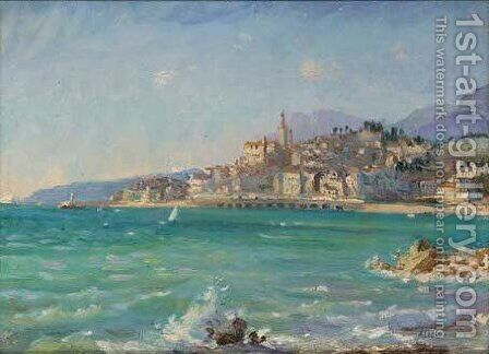 Off the Italian coast by Alice Maud Fanner - Reproduction Oil Painting