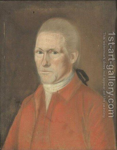 A Portrait Of Eleazar Brooks by American School - Reproduction Oil Painting
