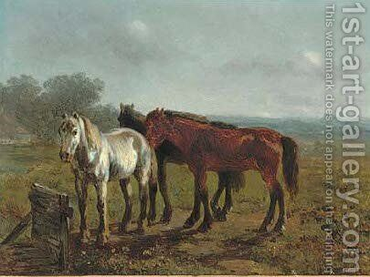 In the paddock by Anthony De Bree - Reproduction Oil Painting