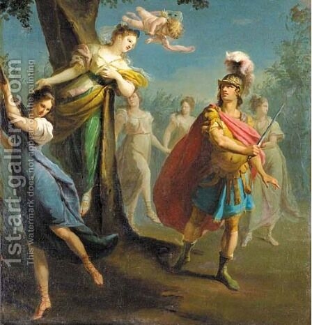 Armida enchanting by Claudio Francesco Beaumont - Reproduction Oil Painting