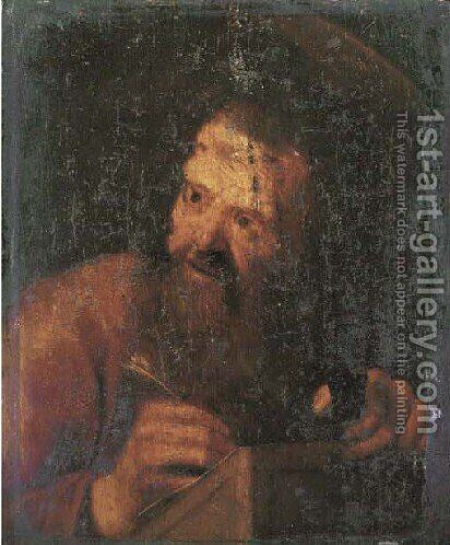 Saint Luke by Cornelis Van Poelenburch - Reproduction Oil Painting