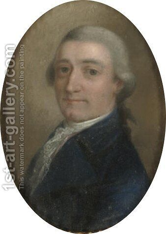 Portrait of a gentleman by Danish School - Reproduction Oil Painting