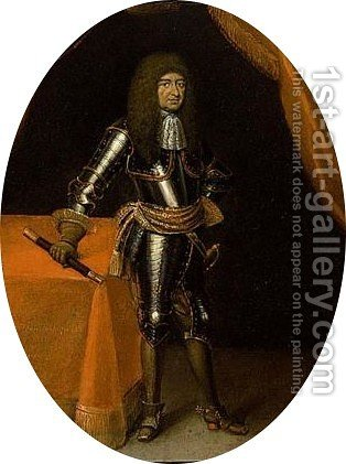 A Portrait Of A Nobleman, Said To Be Frederik V Elector Palatine (1596-1632) by Dutch School - Reproduction Oil Painting