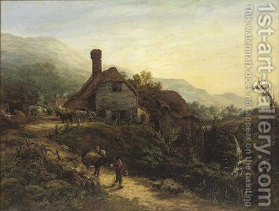 South view of the watermill, Ventnor, Isle of Wight by Harriett Gouldsmith - Reproduction Oil Painting