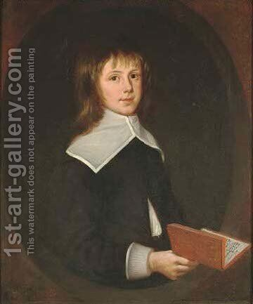 Portrait of Thomas Oxenden of Maydeken, Barham, aged 9 by Henry Gibbs - Reproduction Oil Painting