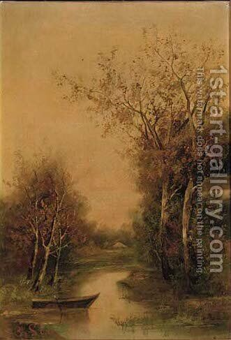 Tranquil water by Ignaz Papauschek - Reproduction Oil Painting