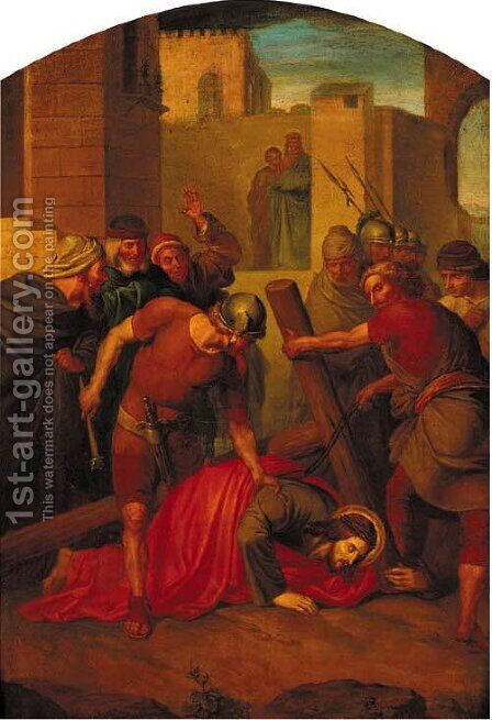 The Station of the Cross by Italian School - Reproduction Oil Painting