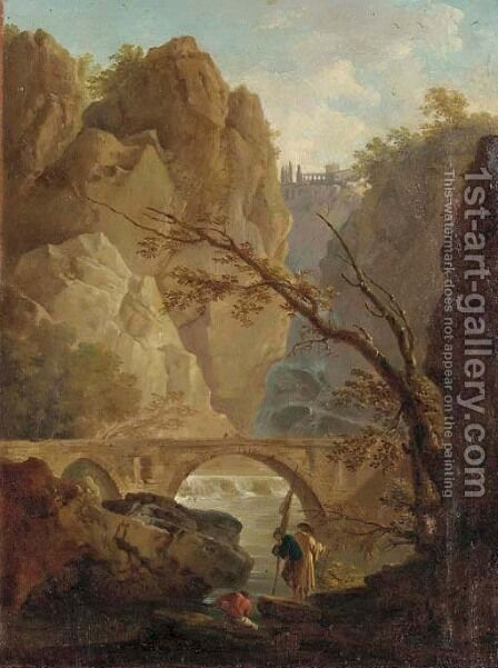 The Falls at Tivoli by Italian School - Reproduction Oil Painting