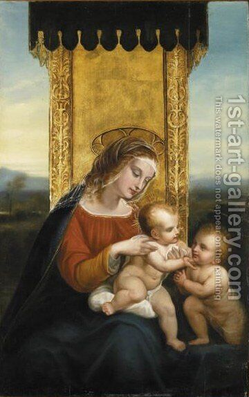 Madonna Con Bambino 3 by Italian School - Reproduction Oil Painting