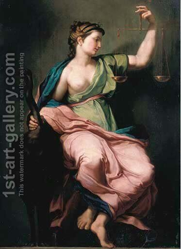 Justice by Italian School - Reproduction Oil Painting