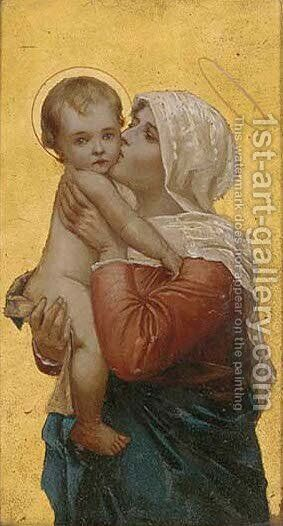 Madonna and child 7 by Italian School - Reproduction Oil Painting