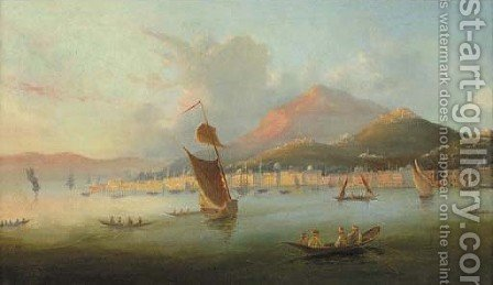 A Capriccio view of the Northern Bosphorus 2 by Italian School - Reproduction Oil Painting