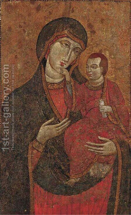 The Madonna and Child 4 by Italian School - Reproduction Oil Painting