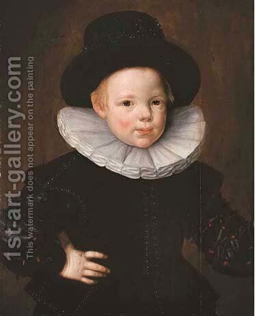 Portrait of Wouter Gael (1600-1639), aged four by Jan Claesz - Reproduction Oil Painting