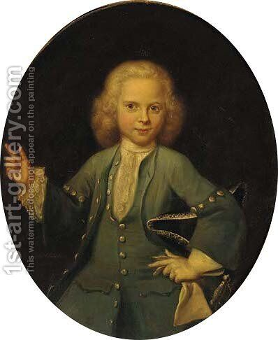 Portrait of a boy by Jan Maurits Quinkhard - Reproduction Oil Painting