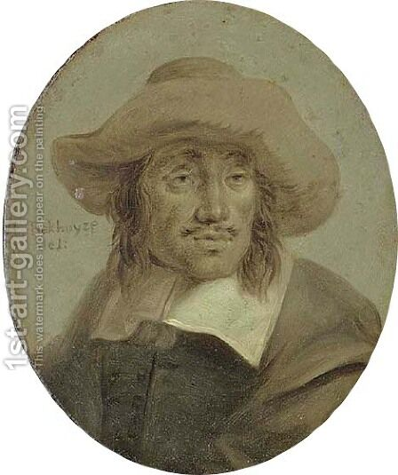 Portrait of Hendrick Dubbels (1620-1676) by Jan Stolker - Reproduction Oil Painting