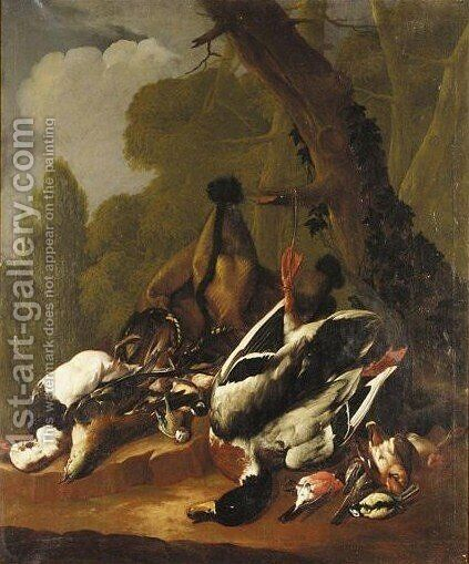 A Still Life Of Dead Game Birds by (after) Andreas Held - Reproduction Oil Painting