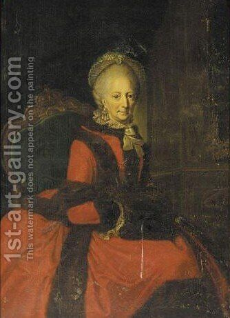Portrait Of Duchess Phillipine Charlotte Of Brunswick-Wolfenbuttel by (after) Anna Rosina De Gasc - Reproduction Oil Painting