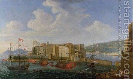 A View Of The Darsena, Naples by (after) Gabriele Ricciardelli - Reproduction Oil Painting