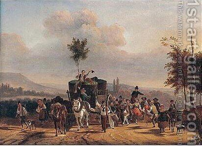 Return home by (after) Jean-Francois Demay - Reproduction Oil Painting