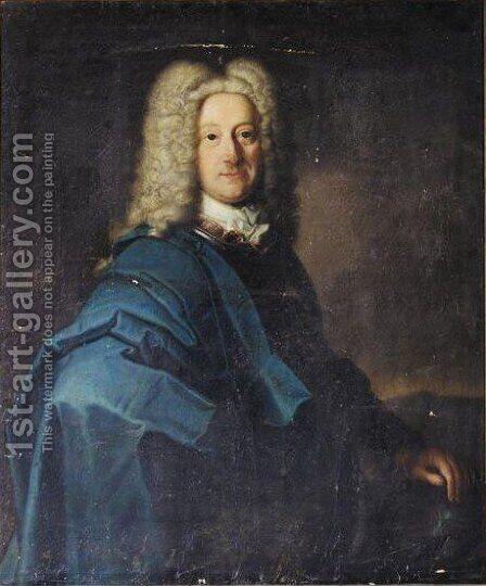 Portrait Von Ludwig Heinrich Prinz Von Nassau-Dillenburg (1681-1710) by (after) Johann Conrad Eichler - Reproduction Oil Painting