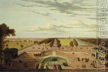 View Of The Mall From Buckingham House by (after) John Paul - Reproduction Oil Painting