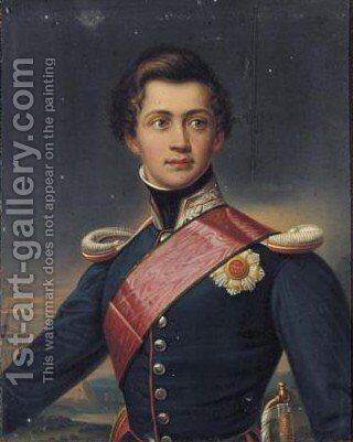 Portrait of Otto I. Konig Von Griechenland, Prinz Von Bayern by (after) Joseph Karl Stieler - Reproduction Oil Painting