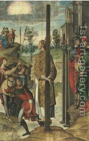 The Stoning Of Saint Stephen by (after) Juan Rodriguez De Solis - Reproduction Oil Painting