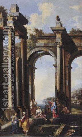 An Apostle Preaching by Alberto Carlieri - Reproduction Oil Painting