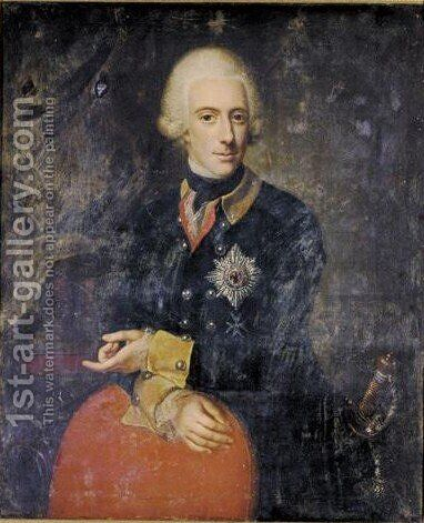 Portrait Of Duke Wilhelm Adolph Of Brunswick-Wolfenbuttel (1745-70) by Anna Rosina De Gasc - Reproduction Oil Painting