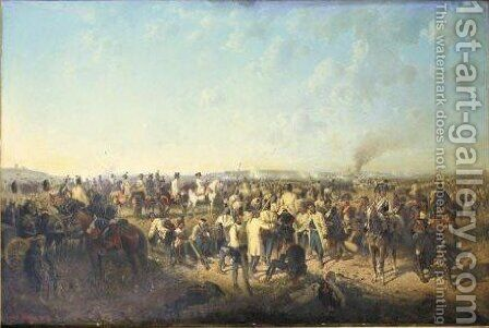 The Battle At Neerwinden, 18th March 1793 by August Von Maly - Reproduction Oil Painting