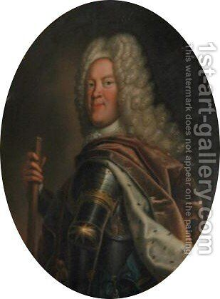 Portrait Von Herzog Ludwig Rudolf (1671-1735) by Bernard Christian Francke - Reproduction Oil Painting