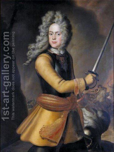 Portrait Von Herzog August Ferdinand (1677-1704) by Bernard Christian Francke - Reproduction Oil Painting