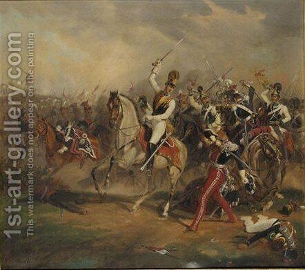 Wilhelm Duke Of Brunswick In The Battle Of Leipzig by Carl Alberti - Reproduction Oil Painting