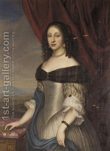 Portrait Of Dorothea Princess Of Holstein-Glucksburg, Wife Of Christian Ludwig, Duke Of Brunswick-Luneburg (1636-1689) by H. Schulz - Reproduction Oil Painting