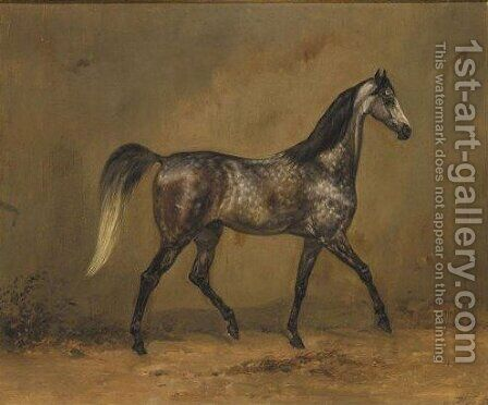Horse Portrait by Hermann Tunica - Reproduction Oil Painting
